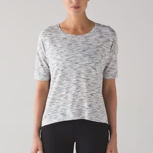 Lululemon Run It Out Tee Shirt Tiger Space Dye 4/6